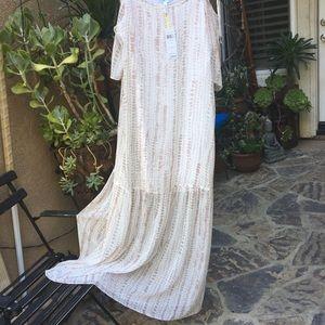BCBG Maxi Cold Shoulder Dress